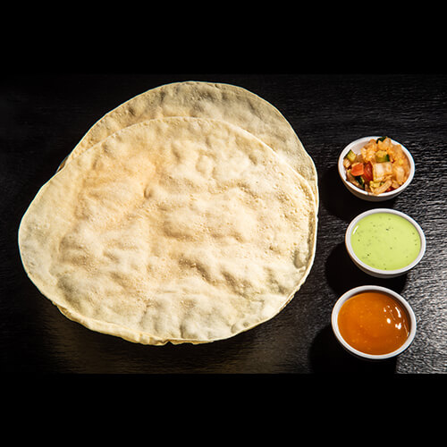 Papadum With Dips (2 Wafers)